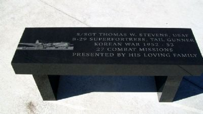 SSgt Thomas W. Stevens Bench image. Click for full size.