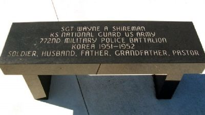 Sgt Wayne A. Shireman Bench image. Click for full size.
