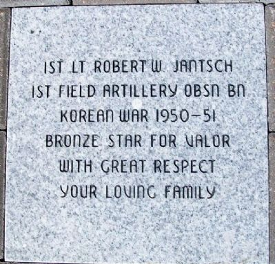 1st Lt Robert W. Jantsch - Representative Paver image. Click for full size.