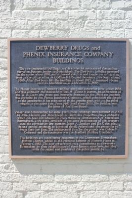 Dewberry Drugs and Phenix Insurance Company Buildings Marker image. Click for full size.