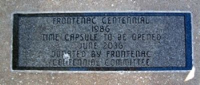 Frontenac Time Capsule image. Click for full size.