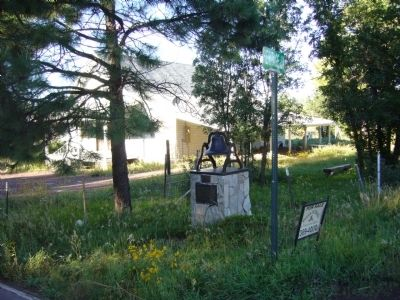 Lakeside Marker and Woodland Church and School Bell image. Click for full size.