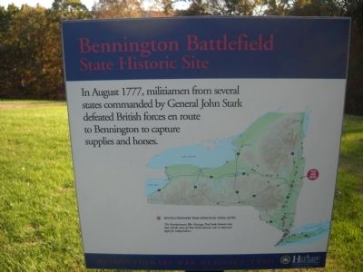 Bennington Battlefield Marker image. Click for full size.