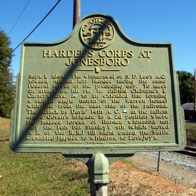 Hardee's Corps at Jonesboro Marker image. Click for full size.