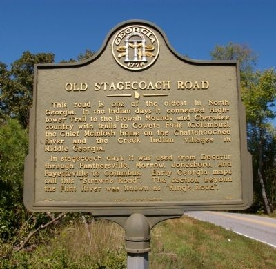 Old Stagecoach Road Marker image. Click for full size.