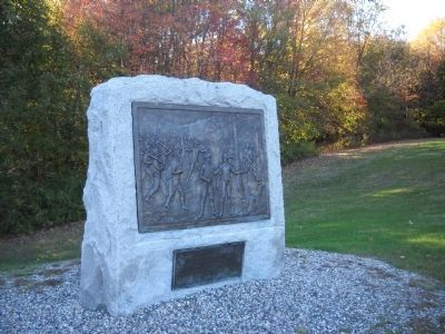 Massachusetts Volunteers at Bennington Marker image. Click for full size.
