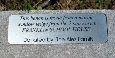 Franklin Grade School Window Ledge Bench Marker image. Click for full size.