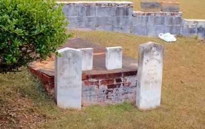 The Grave of Gen. Robert C. Tyler and Capt. C. Gonzalez image. Click for full size.