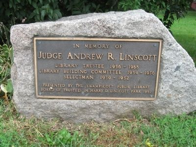 Judge Andrew R. Linscott Marker image. Click for full size.