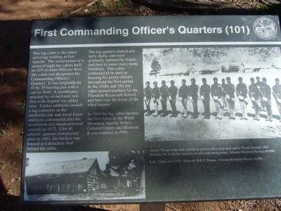 First Commanding Officer's Quarters Marker image. Click for full size.