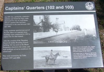 Captain's Quarters (102 and 103) Marker image. Click for full size.