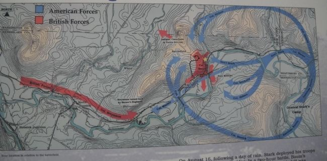 Bennington Battle Map image. Click for full size.