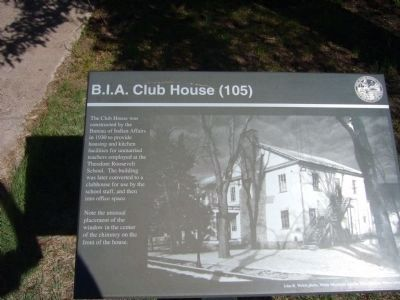 B.I.A. Club House Marker image. Click for full size.