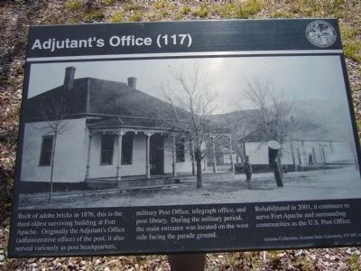 Adjutant's Office Marker image. Click for full size.