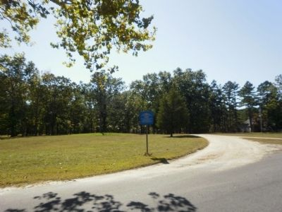 Speedwell Marker in vacant area where the town once existed. image. Click for full size.