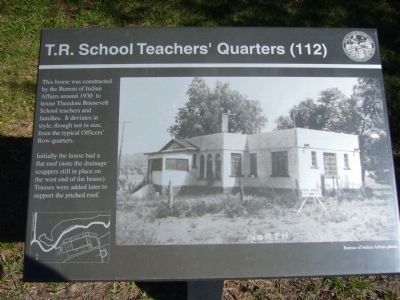 T.R. School Teachers' Quarters Marker image. Click for full size.