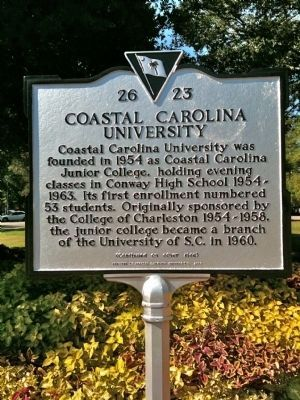 Coastal Carolina University Marker (front) image. Click for full size.