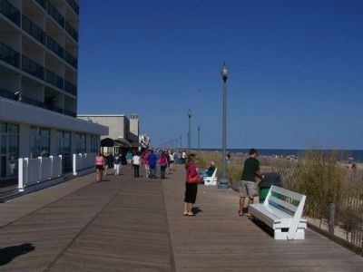 City of Rehoboth Beach Boardwalk view image. Click for full size.