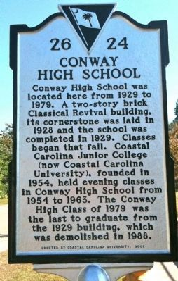 Conway High School Marker image. Click for full size.