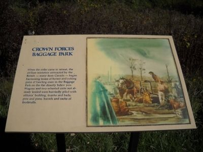 Crown Forces Baggage Park Marker image. Click for full size.