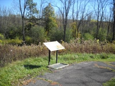 Marker on the Saratoga Battlefield image. Click for full size.