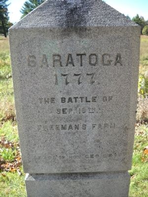 Saratoga 1777 Marker image. Click for full size.