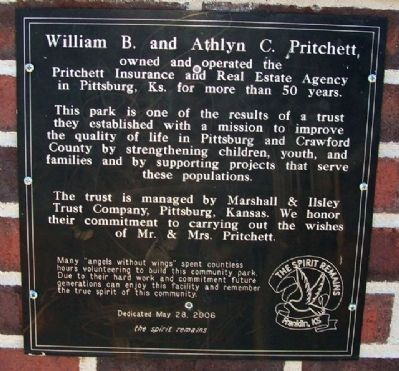 William B. and Athlyn C. Pritchett Marker image. Click for full size.