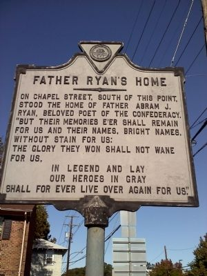 Father Ryan's Home Marker image. Click for full size.