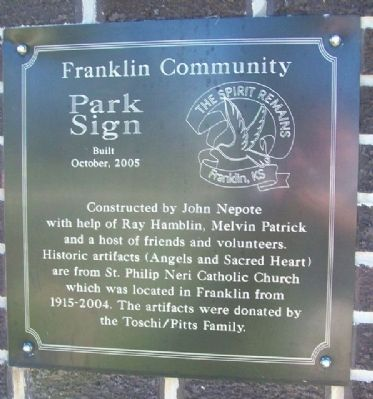 Franklin Community Park Sign Marker image. Click for full size.