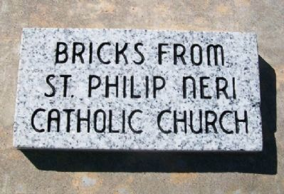Bricks from Neri Church Marker image. Click for full size.