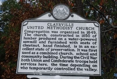 Claysville United Methodist Church Marker image. Click for full size.