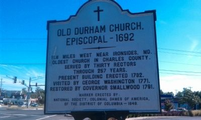 Old Durham Church, Episcopal - 1692 Marker image. Click for full size.