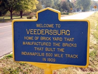 Obverse View - - Veedersburg Marker image. Click for full size.