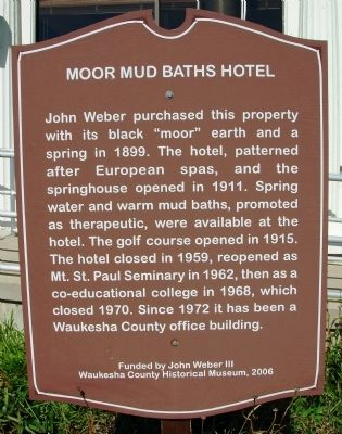 Moor Mud Baths Hotel Marker image. Click for full size.