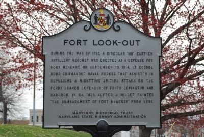 Fort Look-Out Marker image. Click for full size.