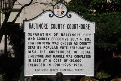 Baltimore County Courthouse Marker image. Click for full size.