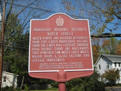 Brookside Historic District Marker image. Click for full size.