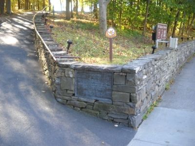 Marker at Saratoga Battlefield image. Click for full size.