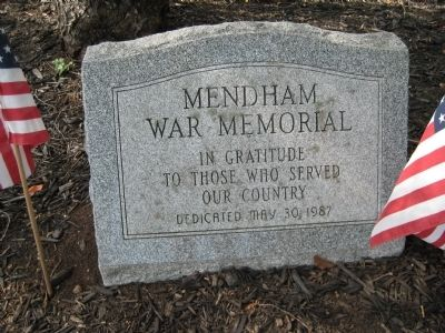 Mendham Township War Memorial image. Click for full size.
