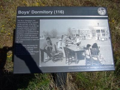 Boys' Dormitory Marker image. Click for full size.