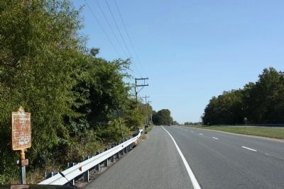 Broadkiln Hundred Marker, looking south along State Road 1, Coastal Highway image. Click for full size.