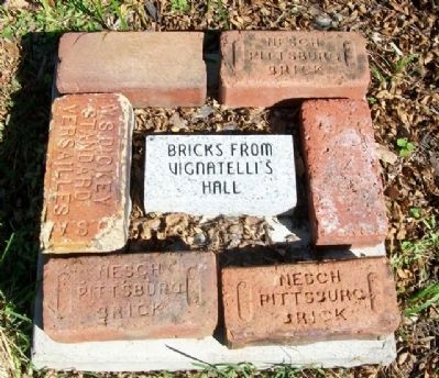 Vignatelli's Hall Bricks in Franklin Community Park image. Click for full size.