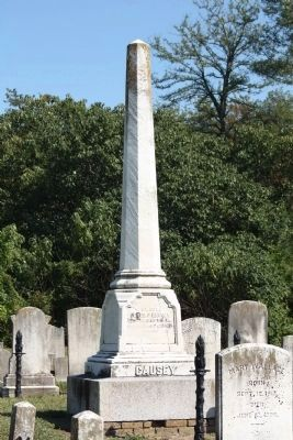 Grave of Peter F. Causey, Governor of Delaware (1855-1859), as mentioned image. Click for full size.
