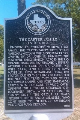The Carter Family In Del Rio Marker image. Click for full size.