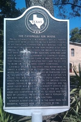 The Cassinelli Gin House Marker image. Click for full size.