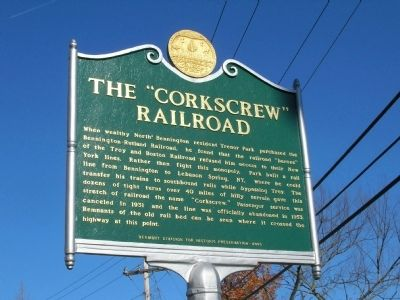 "The ""Corkscrew"" Railroad Marker image. Click for full size."