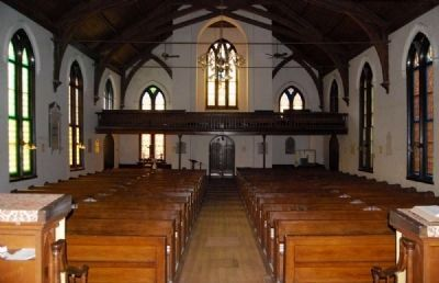 Trinity Episcopal Church Interior - From Chancel Looking into the Auditorium image. Click for full size.