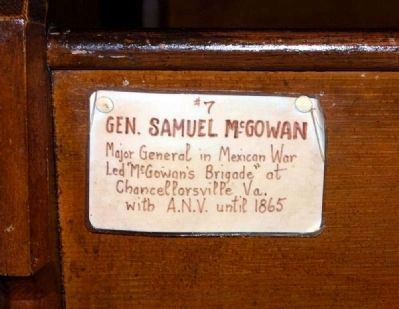 Trinity Episcopal Church Member Plaque #7 -<br>Gen, Samuel McGowan image. Click for full size.