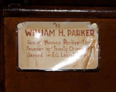 Trinity Episcopal Church Member Plaque #13 -<br>William H. Parker image. Click for full size.