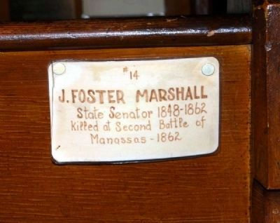 Trinity Episcopal Church Member Plaque #14 -<br>J. Foster Marshall image. Click for full size.